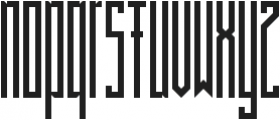 BRUTAAL ttf (400) Font LOWERCASE