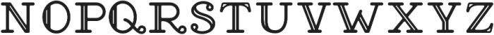 Brace Slab Inline otf (400) Font LOWERCASE