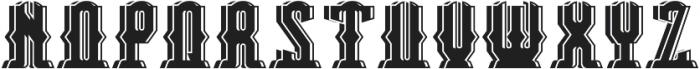 Bradford ShadowAndLight otf (300) Font UPPERCASE