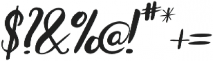 Bradley Normal Normal Italic otf (400) Font OTHER CHARS