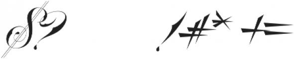 Bradstone-Parker Script otf (400) Font OTHER CHARS