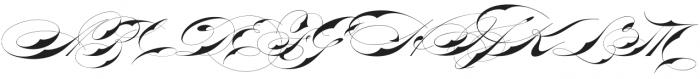 Bradstone-Parker Script otf (400) Font UPPERCASE