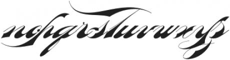 Bradstone-Parker Script otf (400) Font LOWERCASE