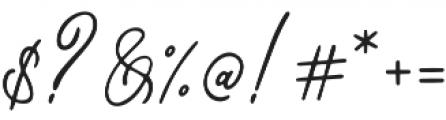 Bragitha otf (400) Font OTHER CHARS