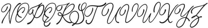 Bragitha otf (400) Font UPPERCASE