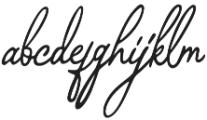 Bragitha otf (400) Font LOWERCASE