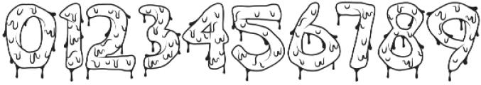 Brain Melt Outline otf (400) Font OTHER CHARS