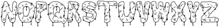 Brain Melt Outline otf (400) Font LOWERCASE