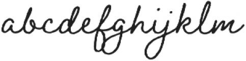 Braisetto otf (400) Font LOWERCASE