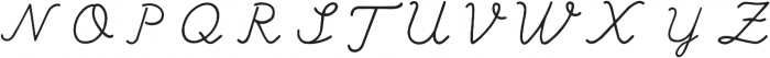 Branco Script Regular otf (400) Font UPPERCASE