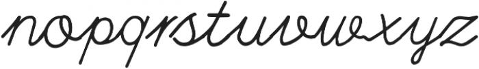 Branco Script Regular otf (400) Font LOWERCASE