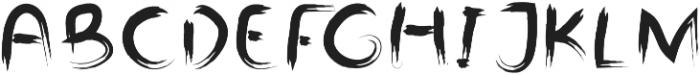 Branda Regular otf (400) Font UPPERCASE