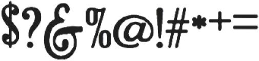 Brandals Regular otf (400) Font OTHER CHARS