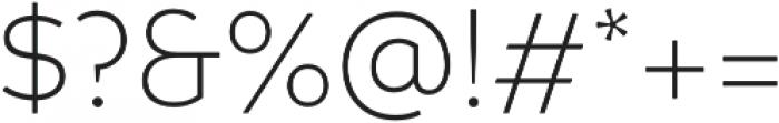 Branding Light otf (300) Font OTHER CHARS