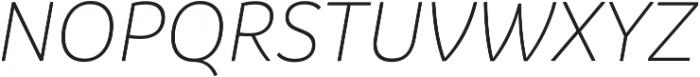 Branding LightItalic otf (300) Font UPPERCASE