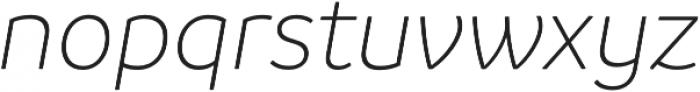 Branding LightItalic otf (300) Font LOWERCASE