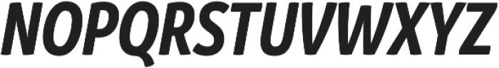 Branding SF Cnd Bold It otf (700) Font UPPERCASE
