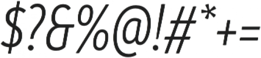 Branding SF Cnd SemiLight It otf (300) Font OTHER CHARS