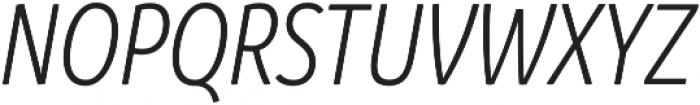 Branding SF Cnd SemiLight It otf (300) Font UPPERCASE