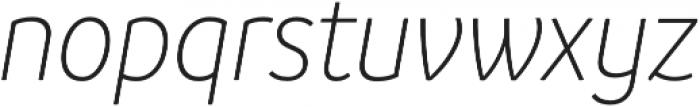 Branding SF Narrow Light It otf (300) Font LOWERCASE