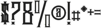 Brandley otf (400) Font OTHER CHARS