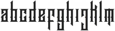 Brandley otf (400) Font LOWERCASE