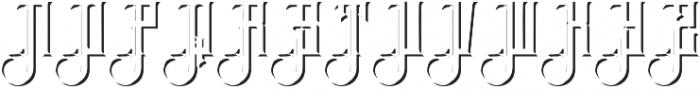 Brandley shadow otf (400) Font UPPERCASE