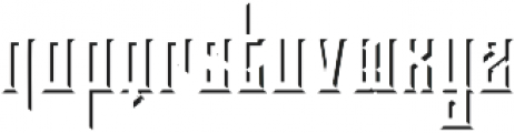 Brandley shadow otf (400) Font LOWERCASE