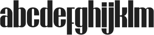 Brasham Regular otf (400) Font LOWERCASE