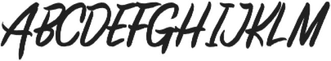 Brashed Typeface otf (400) Font UPPERCASE