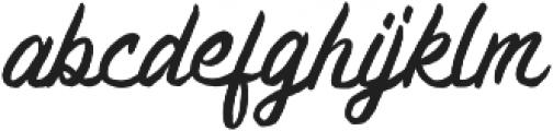 Brashed Typeface otf (400) Font LOWERCASE