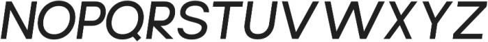 Brasley SemiBold Italic otf (600) Font UPPERCASE