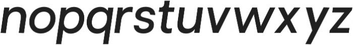 Brasley SemiBold Italic otf (600) Font LOWERCASE