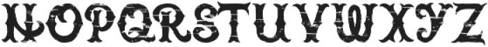 Brass heart rough otf (400) Font LOWERCASE