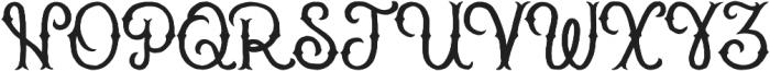 Brass heart simple otf (400) Font UPPERCASE