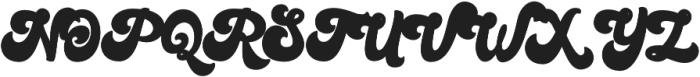 Bratsy Script Reguler otf (400) Font UPPERCASE