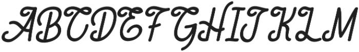 Brave Script otf (400) Font UPPERCASE