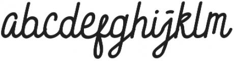 Brave Script otf (400) Font LOWERCASE