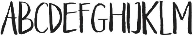 Braveblood Regular otf (400) Font UPPERCASE