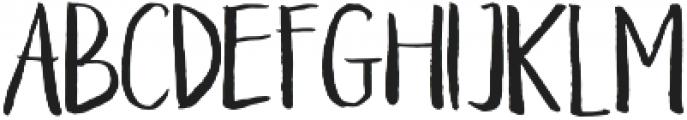 Braveblood Regular otf (400) Font LOWERCASE