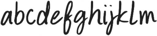 Bravo Regular otf (400) Font LOWERCASE