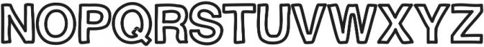 BravuraAllCapsBold ttf (700) Font UPPERCASE