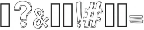 BravuraAllCapsDropShadow ttf (400) Font OTHER CHARS