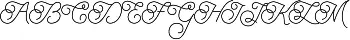 Brayden Script otf (400) Font UPPERCASE