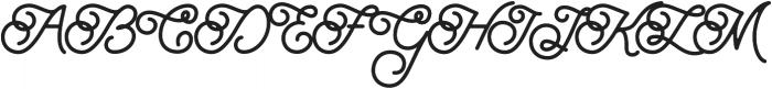 Brayden Script otf (700) Font UPPERCASE