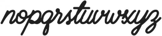 Brayden Script otf (700) Font LOWERCASE