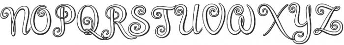 Brazilian Script Regular otf (400) Font UPPERCASE