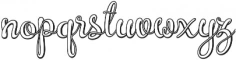 Brazilian Script Regular otf (400) Font LOWERCASE
