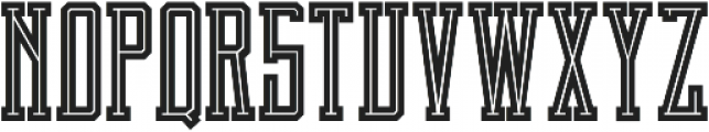 Brch Inline ttf (400) Font UPPERCASE