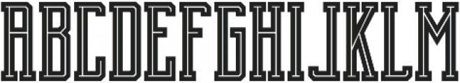 Brch Inline ttf (400) Font LOWERCASE